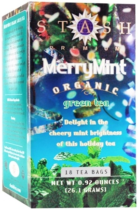 DROPPED: Stash Tea - Premium Organic Merry Mint Green Tea - 18 Tea Bags CLEARANCE PRICED