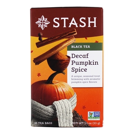 Stash Tea - Premium Pumpkin Spice Decaf Black Tea - 18 Tea Bags