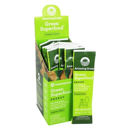 Amazing Grass - Green SuperFood Energy Drink Powder Lemon Lime - 15 Packet(s)