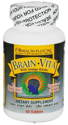 DROPPED: Health Plus - Brain Vita with Ginkgo Biloba - 60 Tablets