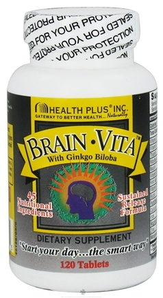 DROPPED: Health Plus - Brain Vita with Ginkgo Biloba - 120 Tablets