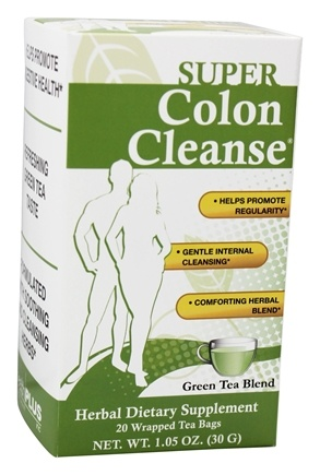 Health Plus - Colon Cleanse Green Tea To Go - 20 Tea Bags
