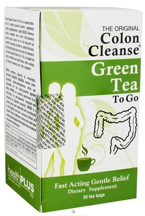 DROPPED: Health Plus - Colon Cleanse Green Tea To Go - 30 Tea Bags CLEARANCE PRICED