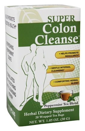 Health Plus - Colon Cleanse Peppermint Tea To Go - 20 Tea Bags