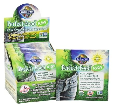 DROPPED: Garden of Life - RAW Perfect Food Organic Green Super Food - 15 Packet(s) CLEARANCE PRICED