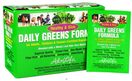 DROPPED: Aloe Life - Healthy & Slim Daily Greens Formula Powder - 30 Packet(s)