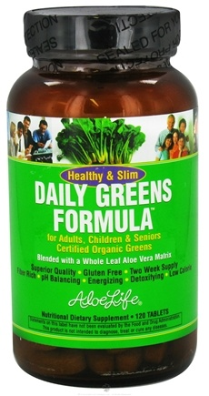DROPPED: Aloe Life - Healthy & Slim Daily Greens Formula - 120 Tablet(s) CLEARANCE PRICED