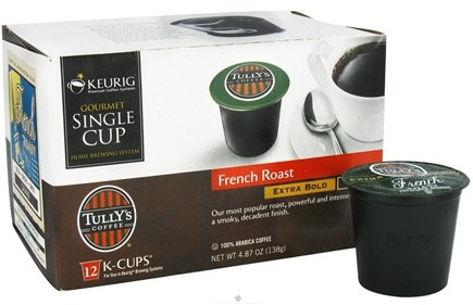 DROPPED: Keurig - Tully's Coffee French Roast 12 K-Cups - 4.87 oz. CLEARANCE PRICED