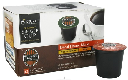 DROPPED: Keurig - Tully's Coffee Decaf House Blend 12 K-Cups - 4.87 oz. CLEARANCE PRICED