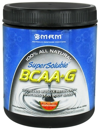 DROPPED: MRM - SuperSoluble BCAA+G 100% All Natural 240 Grams Watermelon - 8.5 oz.