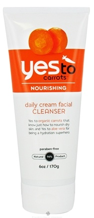 DROPPED: Yes To - Carrots Daily Cream Nourishing Facial Cleanser - 6 oz. CLEARANCE PRICED