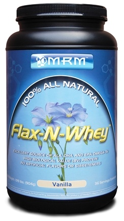 DROPPED: MRM - Flax-N-Whey 100% All Natural Vanilla - 1.99 lbs. CLEARANCE PRICED