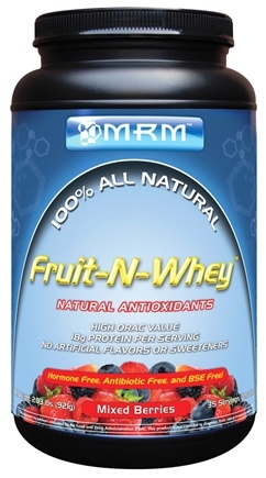 DROPPED: MRM - Fruit-N-Whey 100% All Natural Mixed Berries - 2.03 lbs. CLEARANCE PRICED