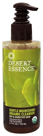 Desert Essence - Gentle Nourishing Organic Cleanser For Dry & Sensitive Skin - 6.7 oz. LUCKY PRICE