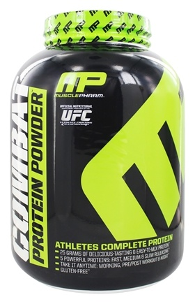 DROPPED: Muscle Pharm - Combat Advanced Time Release Protein Powder Chocolate Peanut Butter - 4 lbs.