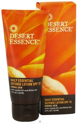 DROPPED: Desert Essence - Daily Essential Defense Lotion For Normal Skin Fragrance-Free 15 SPF - 2 oz. CLEARANCE PRICED