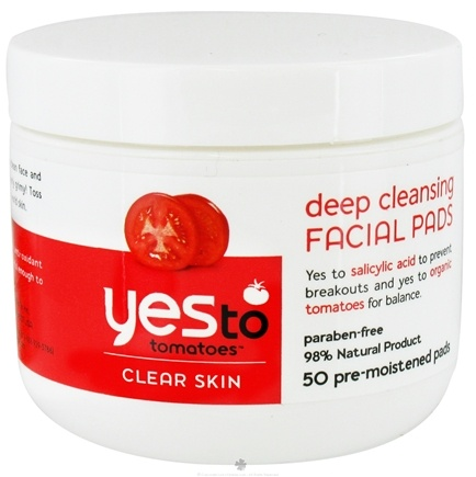 DROPPED: Yes To - Tomatoes Clear Skin Facial Cleansing Pad - 50 Wipe(s)