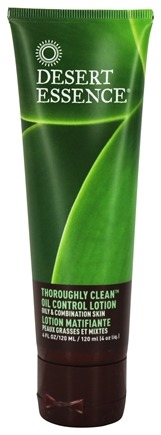 Desert Essence - Thoroughly Clean Oil Control Lotion For Oily & Combination Skin - 4 oz. LUCKY PRICE