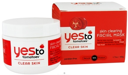 DROPPED: Yes To - Tomatoes Clear Skin Facial Mask Skin Clearing - 1.7 oz. CLEARANCE PRICED