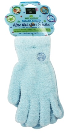 Earth Therapeutics - Aloe Moisture Gloves Ultra Plush Blue - 1 Pair