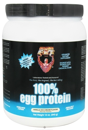 DROPPED: Healthy N' Fit - 100% Egg Protein Vanilla Ice Cream - 12 oz.