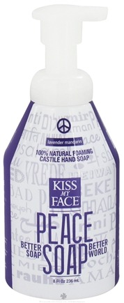 DROPPED: Kiss My Face - Peace Soap 100% Natural Foaming Castile Hand Soap Lavender Mandarin - 8 oz. CLEARANCE PRICED