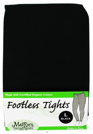 DROPPED: Maggie's Organics - Tights Footless Large Black - 1 Pair CLEARANCE PRICED