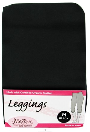 DROPPED: Maggie's Organics - Leggings Medium Black - 1 Pair CLEARANCE PRICED