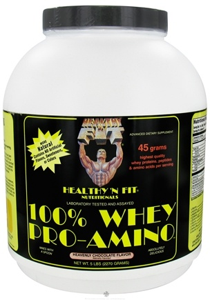 DROPPED: Healthy N' Fit - 100% Whey Pro-Amino Heavenly Chocolate - 5 lbs.