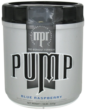 DROPPED: MPR - Pump Pre-Workout Formula Blue Raspberry - 1.15 lbs. CLEARANCE PRICED