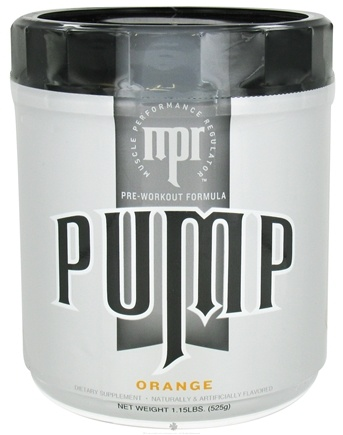 DROPPED: MPR - Pump Pre-Workout Formula Orange - 1.5 lbs. CLEARANCE PRICED