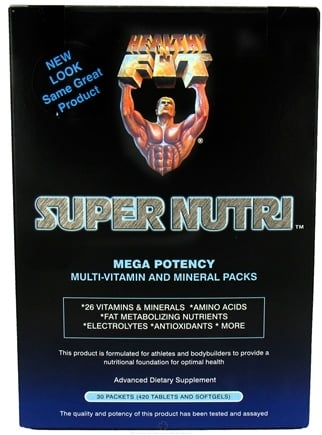 DROPPED: Healthy N' Fit - Super Nutri Pack Mega Potency Multi-Vitamin and Mineral - 30 Packet(s) CLEARANCE PRICED