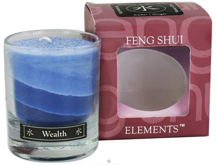 DROPPED: Aloha Bay - Feng Shui Palm Wax Jar Candle Water Wealth - 2.5 oz. CLEARANCE PRICED