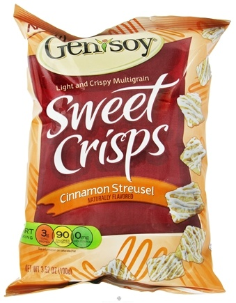 DROPPED: Genisoy - Sweet Crisps Naturally Flavored Cinnamon Streusel - 3.52 oz.
