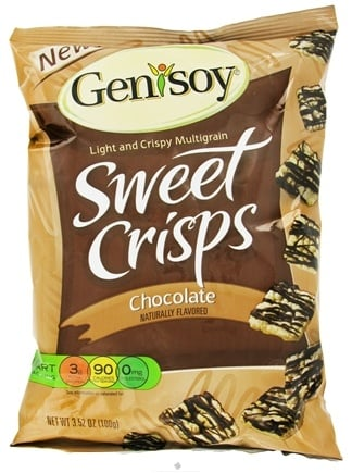 DROPPED: Genisoy - Sweet Crisps Naturally Flavored Chocolate - 3.52 oz.