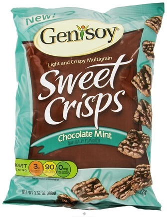 DROPPED: Genisoy - Sweet Crisps Naturally Flavored Chocolate Mint - 3.52 oz.