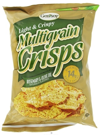 DROPPED: Genisoy - Multigrain Crisps Naturally Flavored Rosemary & Olive Oil - 3.5 oz. CLEARANCE PRICED