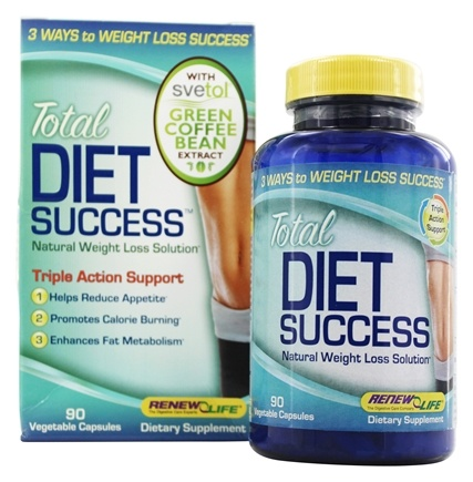 ReNew Life - Total Diet Success Natural Weight Loss Formula with Svetol® - 90 Vegetarian Capsules