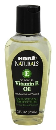 Hobe Labs - Vitamin E Oil 100% Pure Antioxidant Protection 50000 IU - 2 oz.