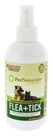 DROPPED: Pet Naturals of Vermont - Protect Flea and Tick Repellent For Dogs & Cats - 8 oz.