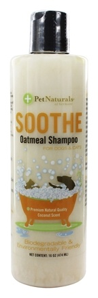 Pet Naturals of Vermont - Soothe Oatmeal Shampoo For Dogs & Cats Coconut Scent - 16 oz.