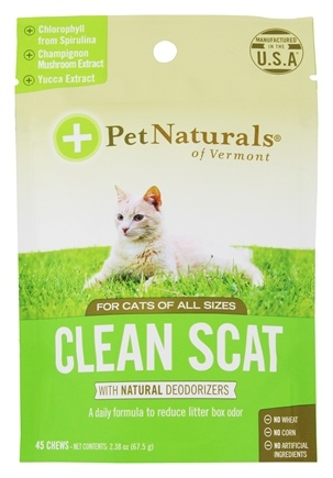 Pet Naturals of Vermont - Clean Scat for Cats Chicken Liver Flavored - 45 Chews