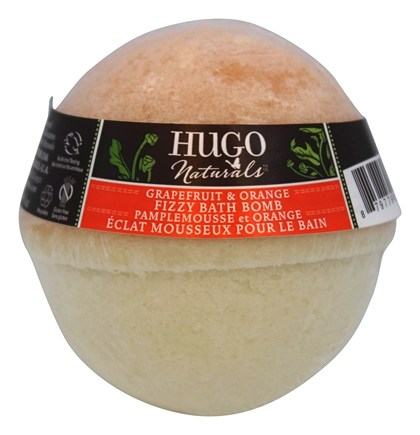 DROPPED: Hugo Naturals - Fizzy Bath Bomb All-Natural Grapefruit & Orange - 6 oz. CLEARANCE PRICED