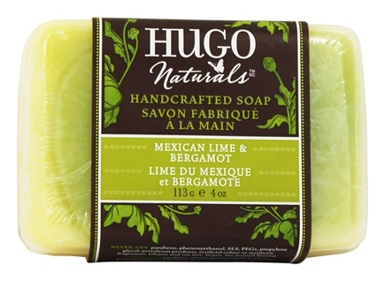 Hugo Naturals - Handcrafted Bar Soap Renewing Mexican Lime & Bergamot - 4 oz.