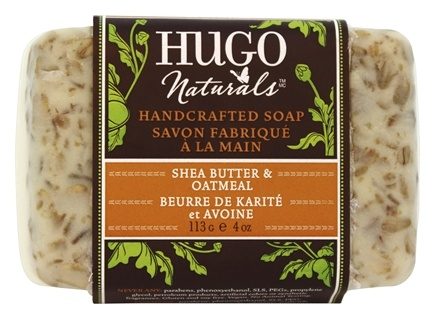DROPPED: Hugo Naturals - Handcrafted Bar Soap Enriching Shea Butter & Oatmeal - 4 oz. CLEARANCE PRICED