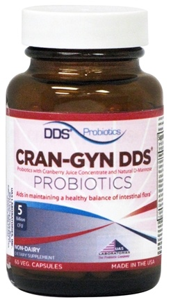 DROPPED: UAS Laboratories - Cran-Gyn DDS Probiotics Urinary Tract Health & Gastrointestinal Support - 60 Vegetarian Capsules CLEARANCE PRICED