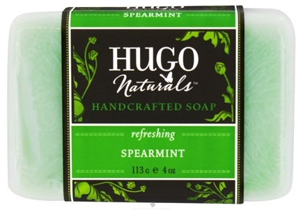 DROPPED: Hugo Naturals - Handcrafted Bar Soap Refreshing Spearmint - 4 oz. CLEARANCE PRICED