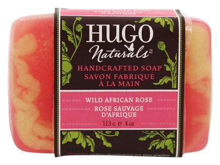 DROPPED: Hugo Naturals - Handcrafted Bar Soap Restorative Wild African Rose - 4 oz. CLEARANCE PRICED