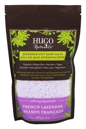 DROPPED: Hugo Naturals - Effervescent Bath Salts Calming French Lavender - 14 oz. CLEARANCE PRICED