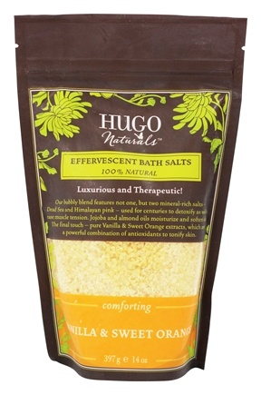 Hugo Naturals - Effervescent Bath Salts Comforting Vanilla & Sweet Orange - 14 oz.